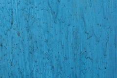 老蓝色墙壁,在油漆污点  免版税库存照片