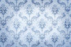 老蓝色墙纸 免版税库存图片