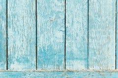 老蓝色木板条背景。 库存照片