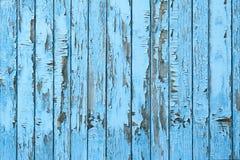 老蓝色木板条背景 图库摄影