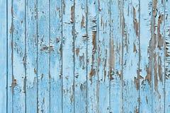 老蓝色木板条背景 免版税库存照片