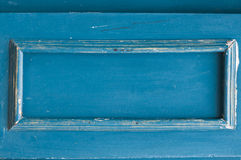 老蓝色木框架 图库摄影