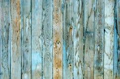 老蓝色木纹理 免版税库存照片
