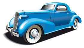 老蓝色汽车 向量例证