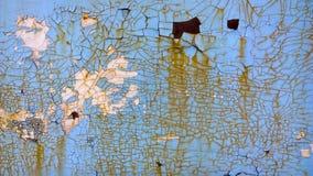 老蓝色油漆削皮纹理 背景grunge喂res葡萄酒 免版税库存图片