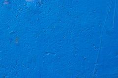 老蓝色油漆背景 免版税库存照片