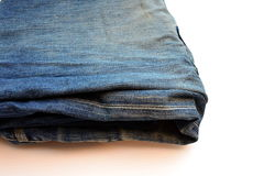 老蓝色牛仔裤 库存图片
