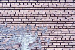 老蓝色被定调子的被风化的砖墙纹理 免版税库存图片