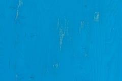 老蓝色被绘的木纹理 免版税库存图片