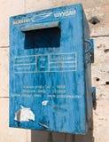 老蓝色邮箱 免版税图库摄影