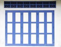 老蓝色门 免版税库存图片