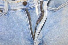 老蓝色demim牛仔裤 免版税库存图片