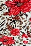 老虎印刷品纹理织品  免版税库存图片