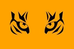 老虎的印刷品眼睛 向量例证