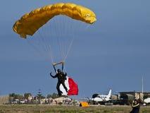 老虎自由下落降伞小组 库存图片