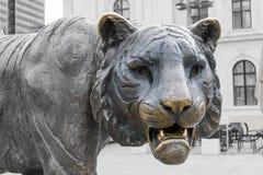 老虎雕象在奥斯陆 免版税库存照片