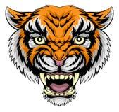 老虎面孔例证 免版税库存图片