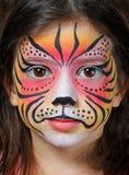 老虎面孔油漆 库存图片