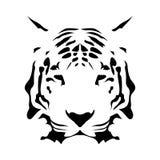 老虎面孔,抽象传染媒介象 库存例证