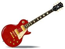 老虎顶面吉他 免版税图库摄影