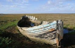 老螃蟹小船 库存图片