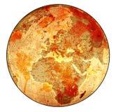 老血淋淋的地球 图库摄影