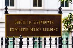 老行政办公室建立华盛顿特区的艾森豪威尔 免版税库存照片