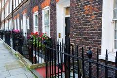 老行格住宅在威斯敏斯特,伦敦 库存照片