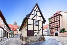 老街道在德国 免版税库存照片