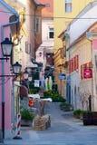 老街道在普图伊,斯洛文尼亚 免版税图库摄影