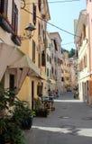 老街道在皮兰,斯洛文尼亚 免版税库存图片