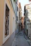 老街道在皮兰,斯洛文尼亚 库存图片