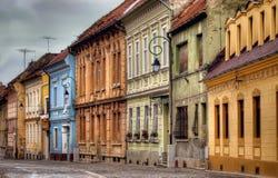 老街道在罗马尼亚 免版税库存照片