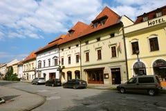 老街道在镇里 库存照片