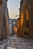 老街道在马泰拉 图库摄影