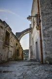 老街道在马泰拉 免版税库存图片