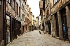老街道在鲁昂 免版税库存照片