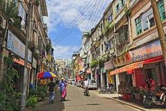 老街道在amoy城市 库存照片