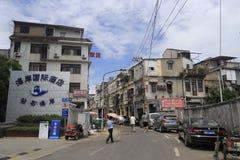 老街道在amoy城市 免版税库存图片