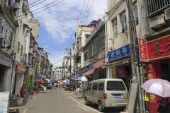 老街道在amoy城市 库存图片