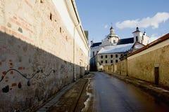 老街道城镇维尔纽斯 库存图片