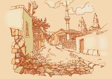 老街道城镇 免版税图库摄影