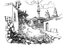 老街道城镇 图库摄影