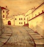 老街道城镇 免版税库存图片