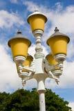 老街道路灯柱 免版税库存图片