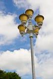 老街道路灯柱 库存图片