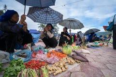 老街,越南- 2017年9月7日:在Y Ty,棒Xat区的地方市场 多数少数族裔人民去市场卖和b 免版税库存图片