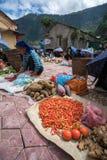 老街,越南- 2017年9月7日:在Y Ty,棒Xat区的地方市场 多数少数族裔人民去市场卖和b 免版税库存照片