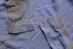 老衣裳淡紫色棕色织品纹理弄脏与袖子 免版税库存图片