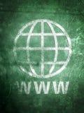 老被佩带的万维网宽世界 免版税图库摄影